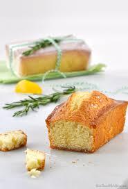lemon rosemary olive oil pound cake with tart lemon glaze