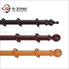 Decorative Wood Curtain Rods Hang Decorative Wooden Window Curtain Rods Poles Pipes For Home