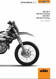 2017 ktm 450 500 exc f xcf w six days service repair manual ktm