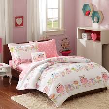 amazon com teen pink owl comforter with sheet sets full size