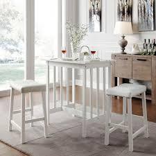 white pub table set great balboa counter height table stool 3 piece dining set white