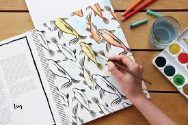 splash of color painting u0026 coloring book u2013 the elephant shop