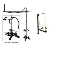 Oil Rubbed Bronze Clawfoot Tub Faucet Oil Rubbed Bronze Clawfoot Tub Faucet Shower Kit With Enclosure