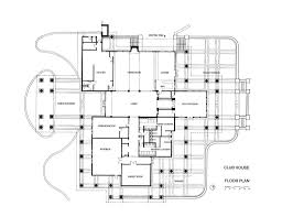 Floor Plans With Porte Cochere River Hills Club House Rowe Architects