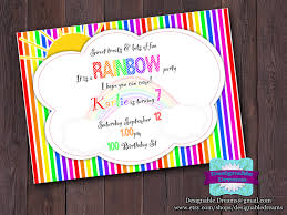 perfect free rainbow party invitation template as cheap article