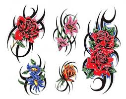 roses and tribal pic from itattooz