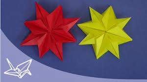 origami christmas star instructions youtube