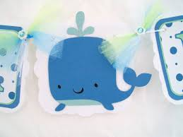 whale baby shower baby shower banner whale banner white blue and mint green