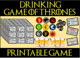 game of thrones drinking game printable my stuff pinterest