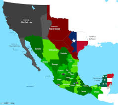 Us And Mexico Map Mexico Map Before Us Invasion