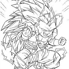 dragon ball coloring pages trunks super saiyan