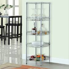 amazon com langria 5 tier wire shelving square tower shelving