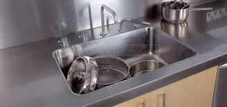 stainless steel countertop with built in sink industrial stainless steel sinks fully integrated sinks