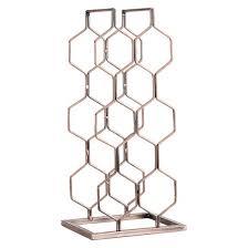 danya b 8 bottle electroplated wine rack copper target