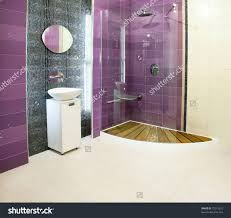 usual shower glass panel for big bathroom with chic wall on black