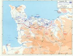 Normandy Map World War Ii Daily Dday To Veday