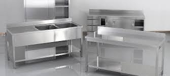 table de cuisine inox plan de travail pour table de cuisine 8 mat233riel inox pour