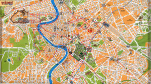 Rome Italy Map Rome Map