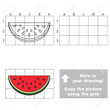 copy the picture using grid lines easy educational game for