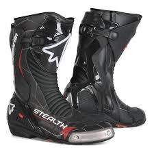 best motocross boot racing boot stealth evo black with air mesh lining with malleolus