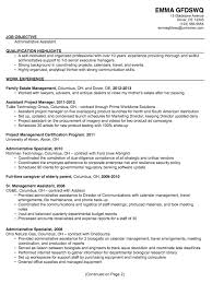 One Job Resume Templates by Executive Assistant Resume Samples Ilivearticles Info