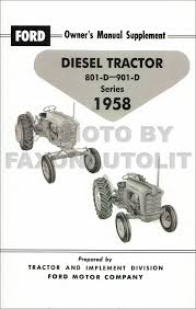 1955 1960 ford 600 thru 901 series tractor repair shop manual reprint