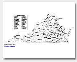 virginia county map with cities printable virginia maps state outline county cities
