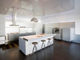 Kitchen With Bar Table - kitchens sleek modern kitchen with white kitchen island feat bar