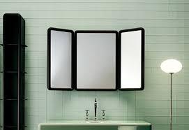 tri fold mirror bathroom cabinet tri fold bathroom wall mirror bathroom mirrors ideas