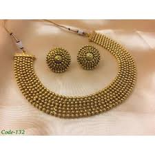 gold choker necklace set images Buy infinity designer golden choker necklace set online get 4 off jpg