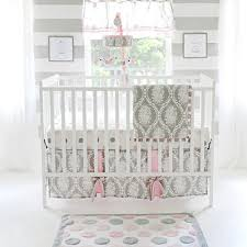 gray and pink crib bedding amazon com