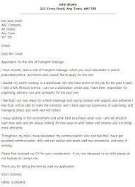 transport manager cover letter cvresume unicloud pl