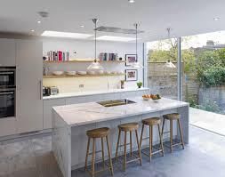kitchen design book handleless matt lacquer kitchen with oak box shelves corian
