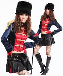 British Soldier Halloween Costume Minnie Mouse Women Ladies Fancy Dress Party Costume Role Play