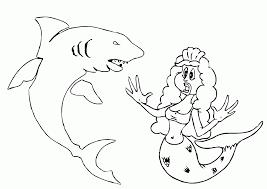 film kartun ikan hiu gambar mewarnai putri duyung dan ikan hiu