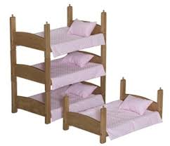 Hand Made Bunk Beds by Doll Bunk Bed 3 Stackable Baby Beds Handmade For 18