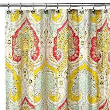 Yellow And Navy Shower Curtain Elegant Bright Colored Shower Curtains And Shower Curtains To