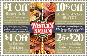 food coupons western sizzlin jesup western sizzlin food coupon