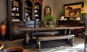 rustic dining table with bench rustic dining room table with bench