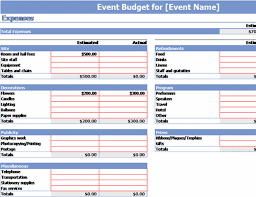 Event Budget Template Excel Event Budget Office Templates
