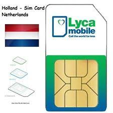 ready prepaid card lyca nl 3 in 1 sim card 4g ready prepaid netherlands data