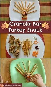 creative food granola bar turkey snack
