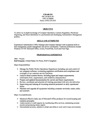 Example Of A Good Resume Objective by Curriculum Vitae Good Things To Put On Resume Skills Different