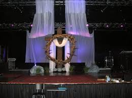 Christian Decorations For Easter by Church Easter Stage Google Search Church Stage Set Pinterest