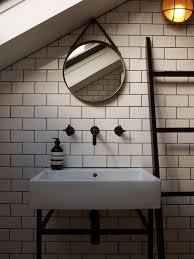 bathroom house f white metro tiles bespoke basin stand