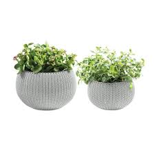 loop bamboo planters 3 pack lppt2173 the home depot