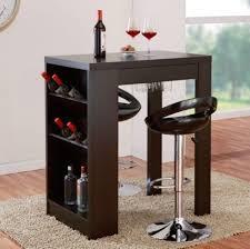 Wine Rack Bar Table Kitchen Bottle Glass Storage Modern Furniture