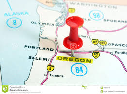 Salem Oregon Map by Oregon Map Stock Images Image 9637014