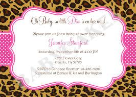 Invitation Cards For Baby Shower Templates Cheetah Print Baby Shower Invitations Kawaiitheo Com