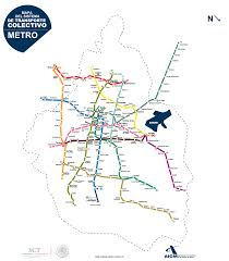 Mexico City Metro Map by
